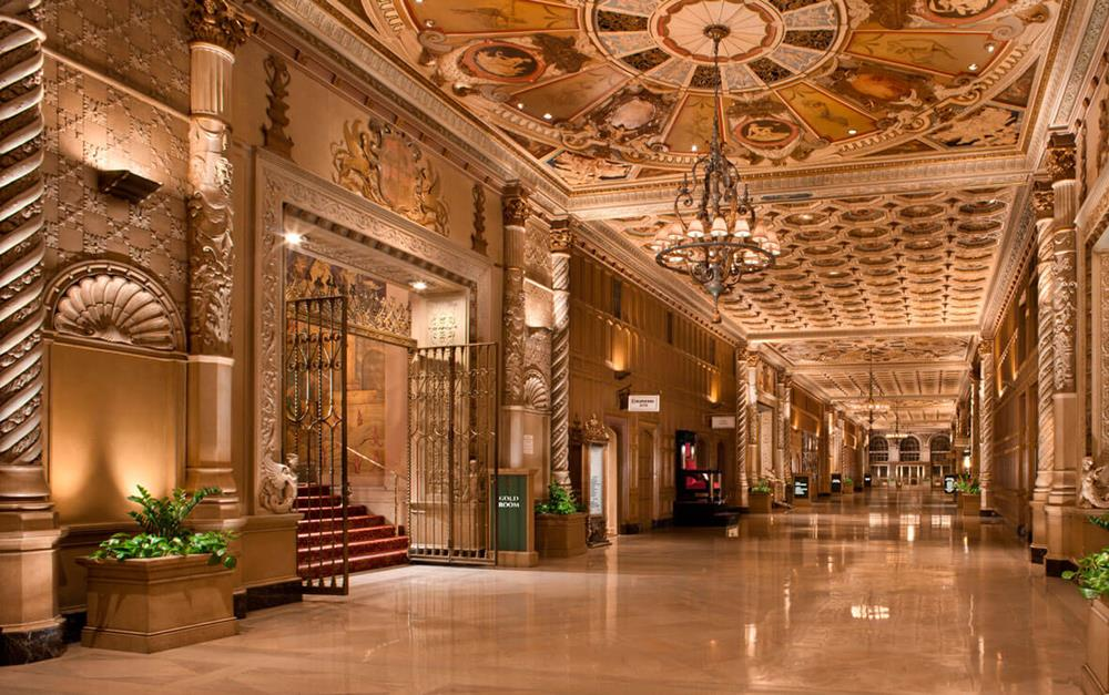 The main hallway of the Biltmore Los Angeles