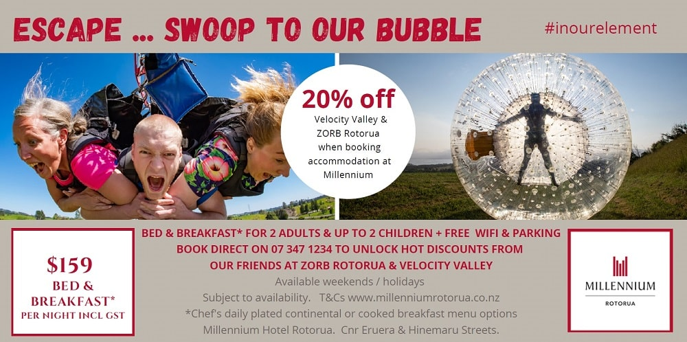 Millennium Hotel Rotorua - Escape Swoop to our bubble