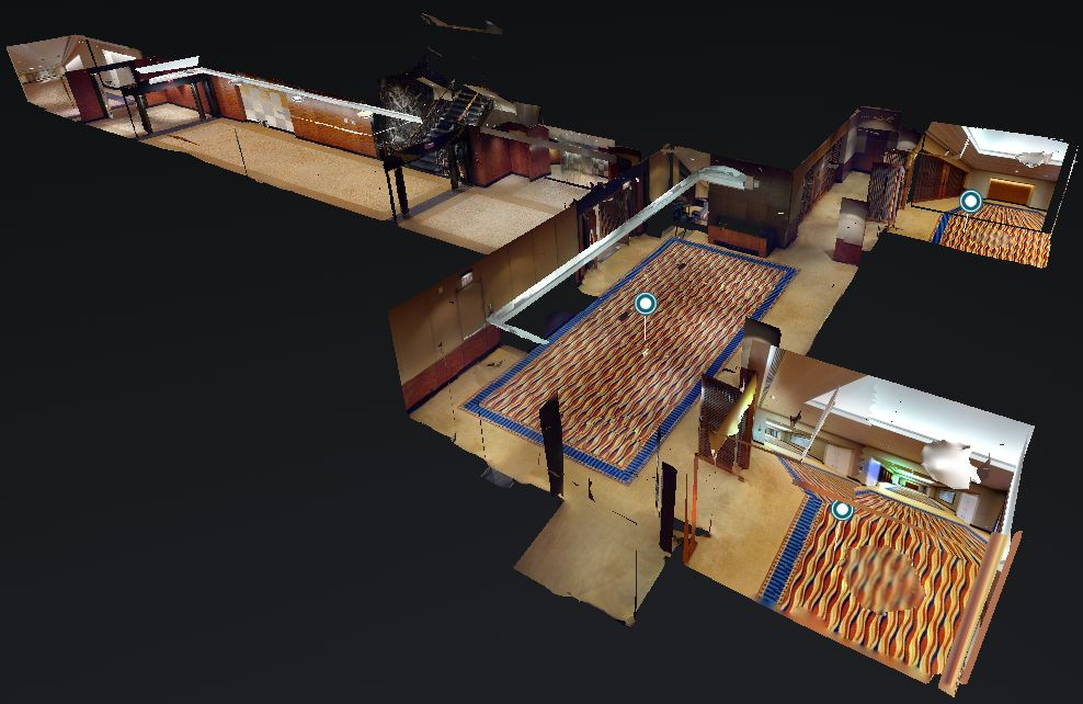 3D Model of meeting venues in the hotel