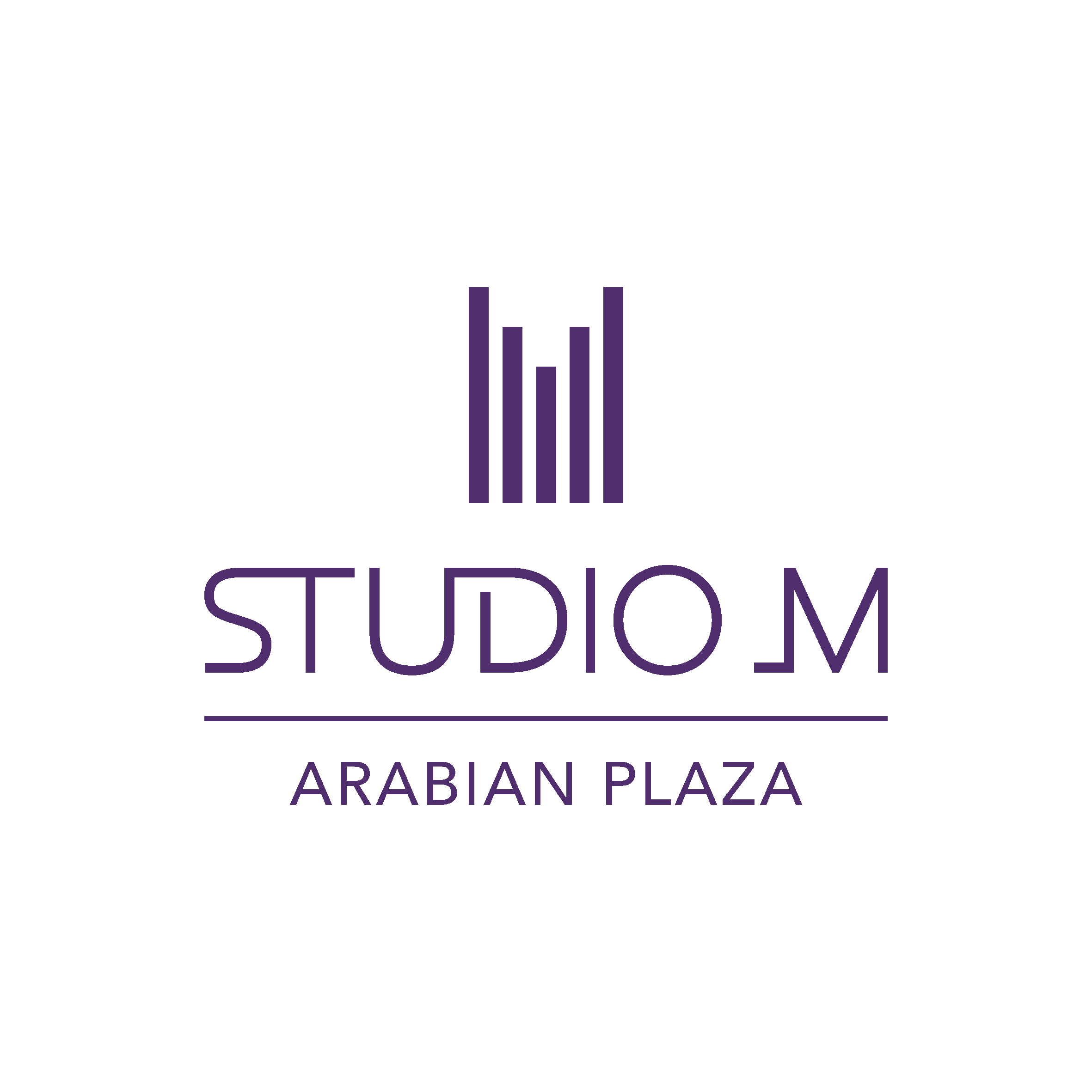 Studio M Arabian Plaza Logo English