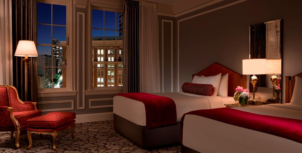 Executive Double Room with two beds and views of Los Angeles city at Millennium Biltmore Hotel